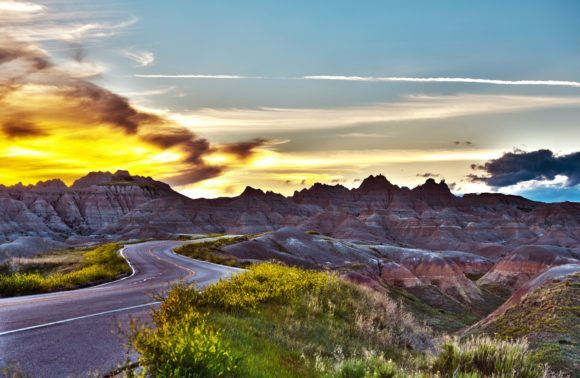 Badlands National Park Sunset