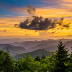 Caney Fork Sunset - Blue Ridge Parkway
