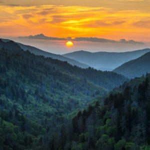 Gatlinburg Sunset - Gatlingburg TN