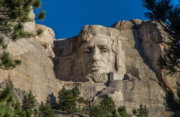 Mnt. Rushmore Abraham Lincoln closeup