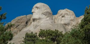 Mnt. Rushmore George Washington close up
