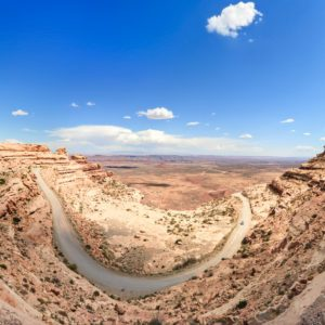Moki Dugway, Muley Point Overlook at Valley of the Gods, Utah, USA
