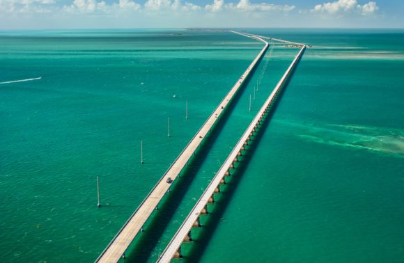 Seven Mile Bridge connecting Key West to FL - great ride on a motorcycle