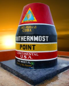 Southernmost Point in USA, Key West, FL. 90 miles to Cuba