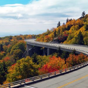 Hugging the mountain on the Linn Cove Viaduct – Blue Ridge Parkway
